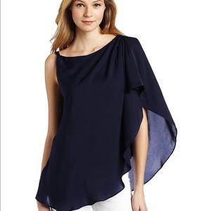Bcbg shoulder drape top